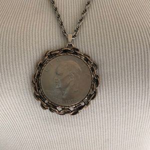 Eisenhower Liberty Dollar Pendant Necklace